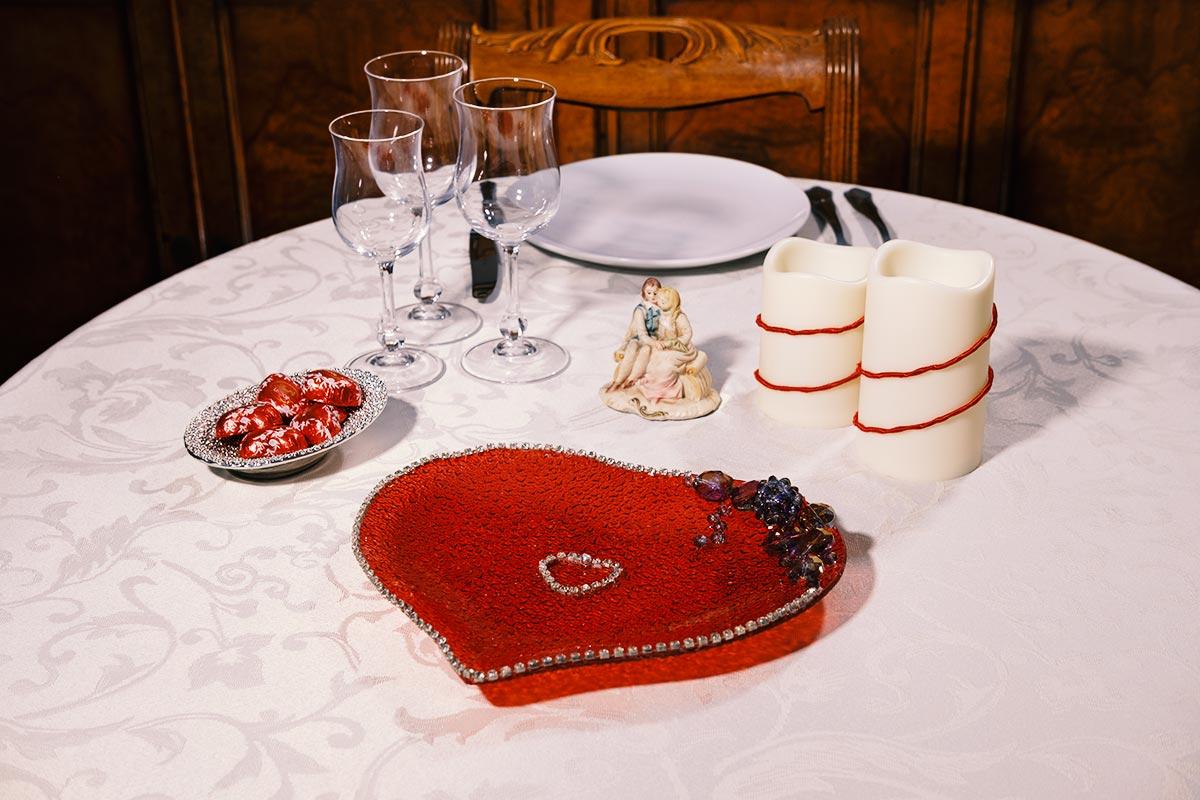 Centrotavola di San Valentino realizzato da TulipanoRosa